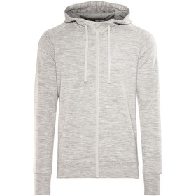super.natural Essential Zip Hoodie Men Ash Melange